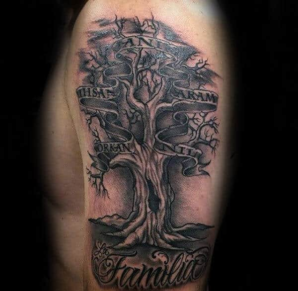 family tree tattoos for men ideas and inspiration for guys. Black Bedroom Furniture Sets. Home Design Ideas